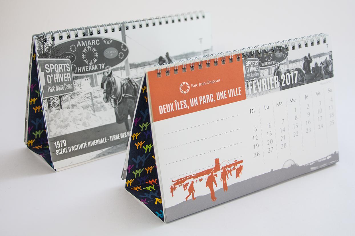 calendrier de table Parc Jean Drapeau