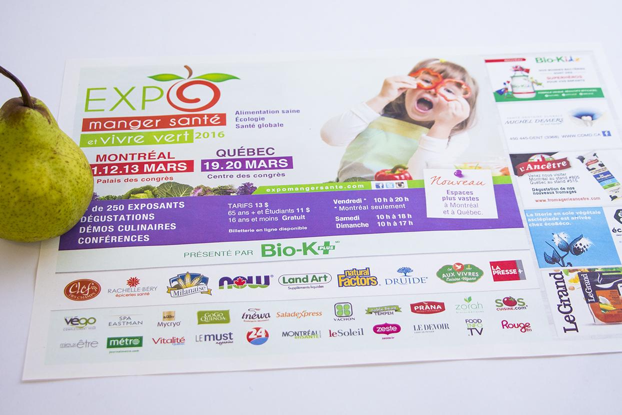 napperon Expo Manger santé