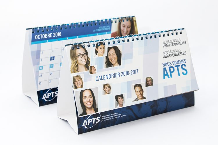 Calendrier de table APTS