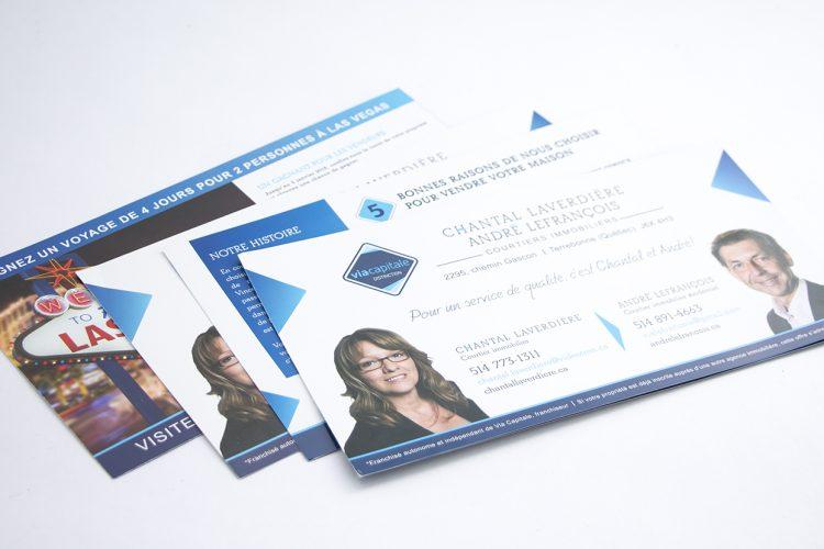 cartons publicitaires Chantal Laverdière et André Lefrançois