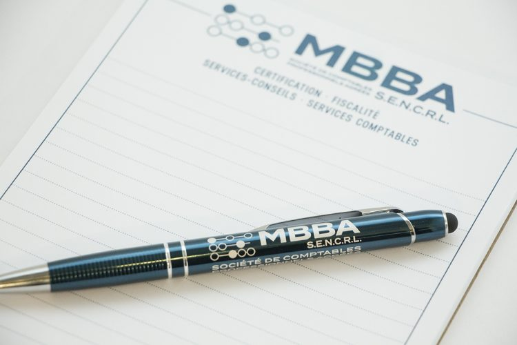 Stylo et bloc-notes MBBA