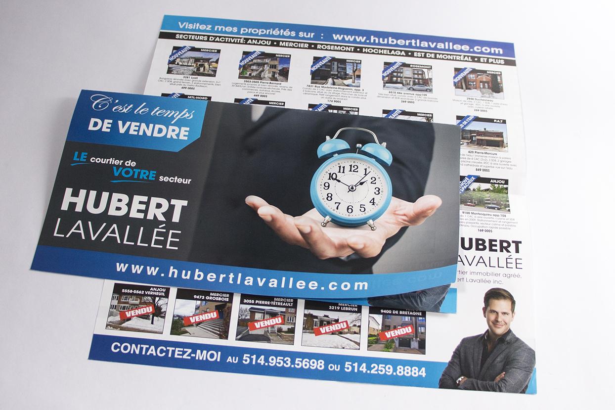 dépliant Hubert Lavallée