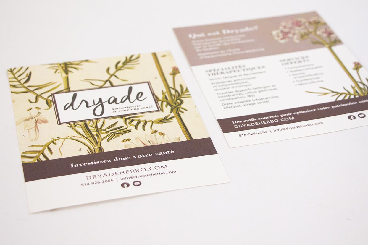 carton publicitaire Dryade