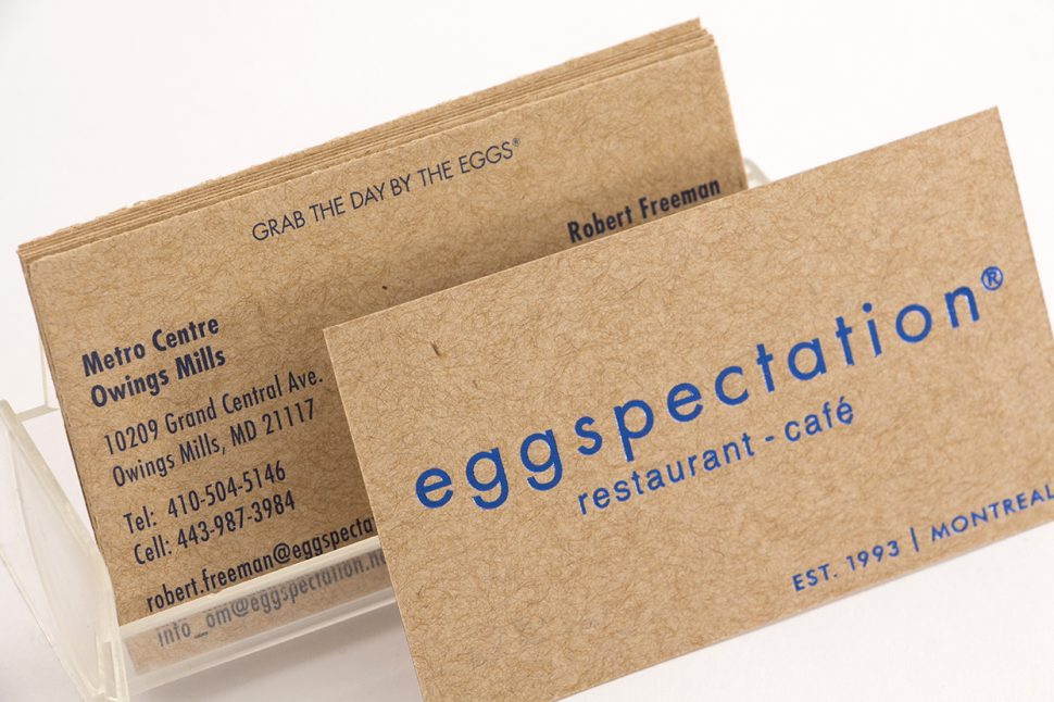 Cartes Eggspectation - estampage métallique sur papier kraft