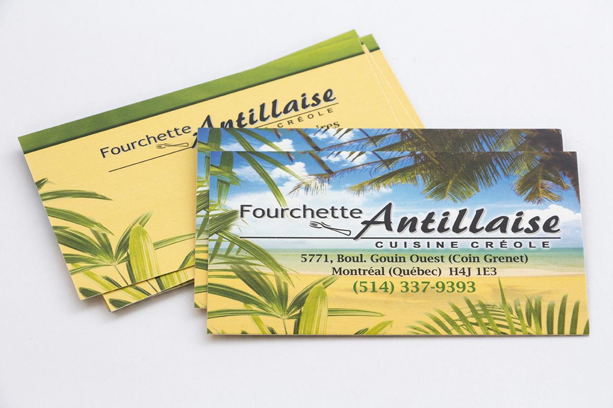 Carte Fourchette Antillaise - carton 16pts laminé mat