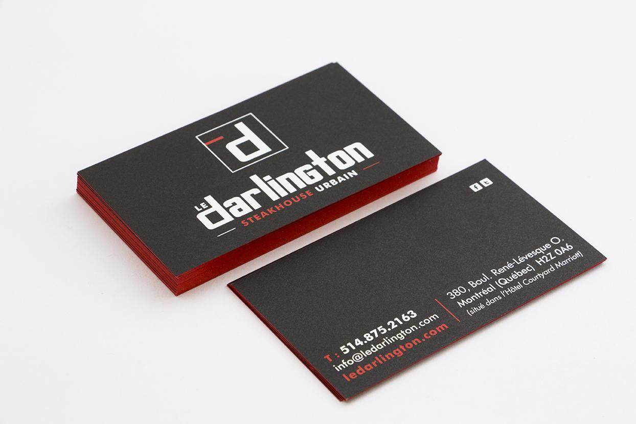Carte Le Darlington - carton avec tranche colorée