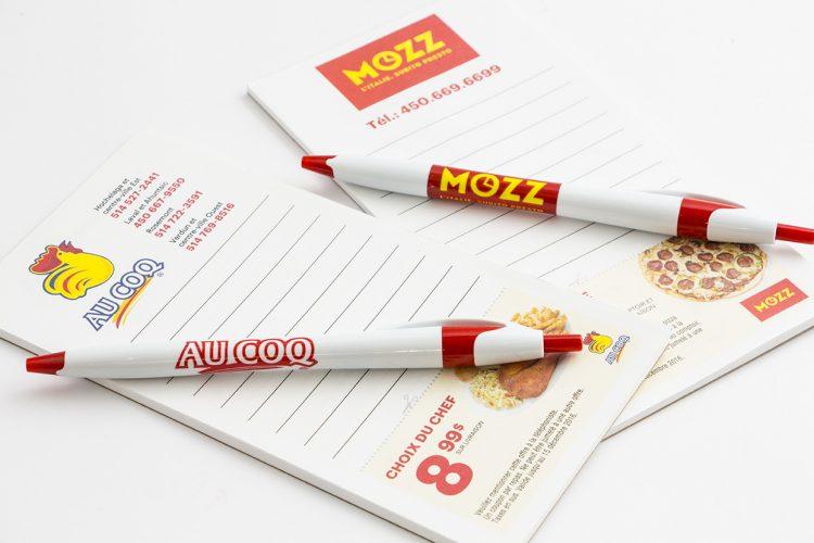 Tablettes et stylos Au Coq et Mozz