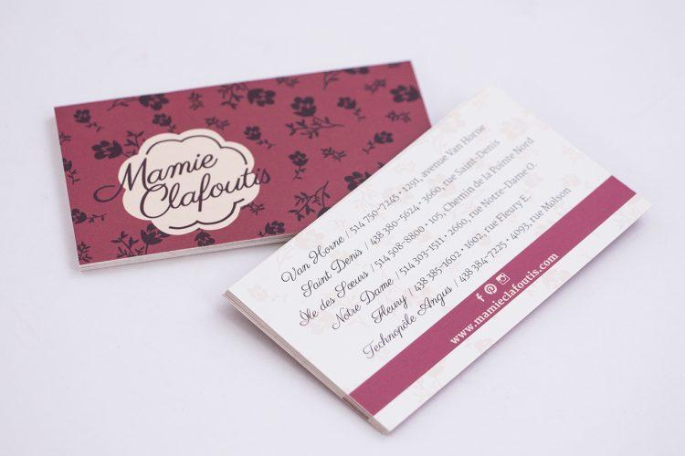Cartes d'affaires Mamie Clafoutis