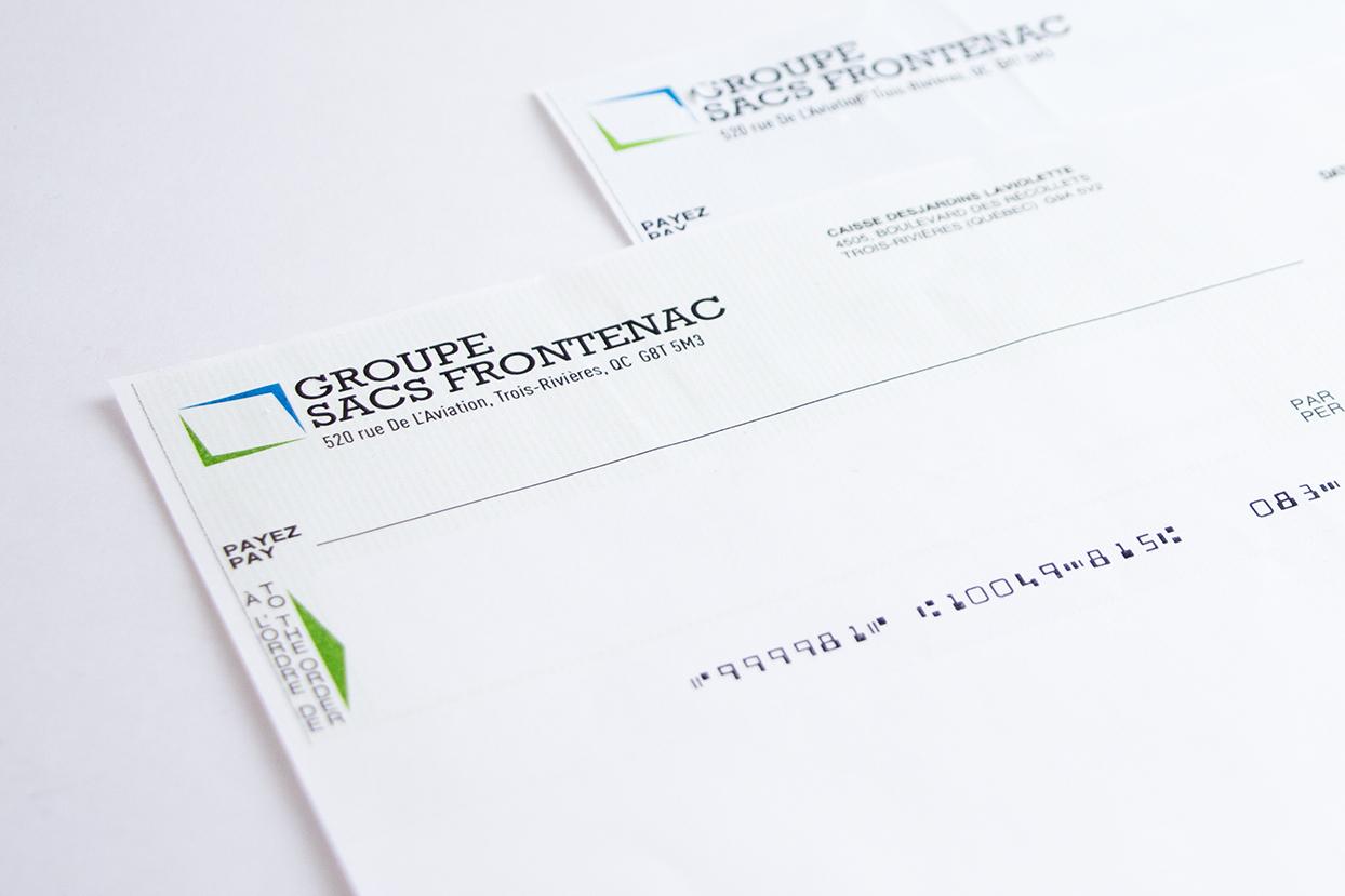 chèques Sac Frontenac
