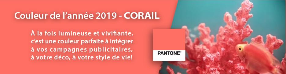Couleur de l'année 2019 – Corail