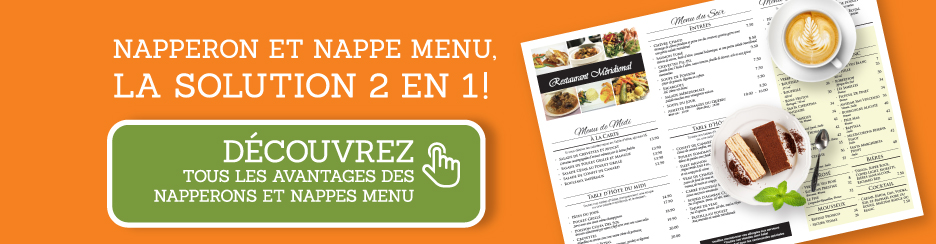 napperon et nappe menu